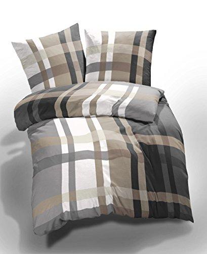 2 tlg et rea microfaser seersucker bettw sche urban check. Black Bedroom Furniture Sets. Home Design Ideas