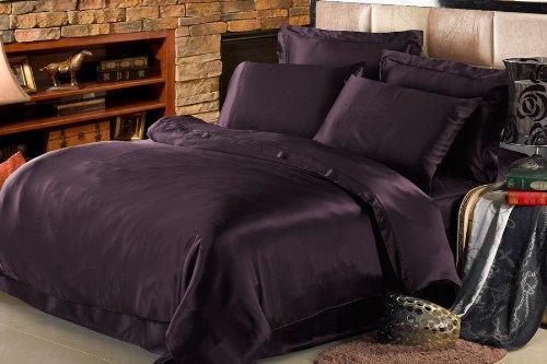 25 Momme Bettbezug Bettwäsche Seiden Dunkel Violett von Lilysilk - 135x200cm