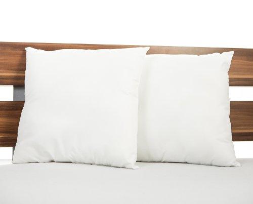 2er set kissenf llung kopfkissen aus microfaser kochfest 40 x 40 tonnentaschenfederkern matratze. Black Bedroom Furniture Sets. Home Design Ideas