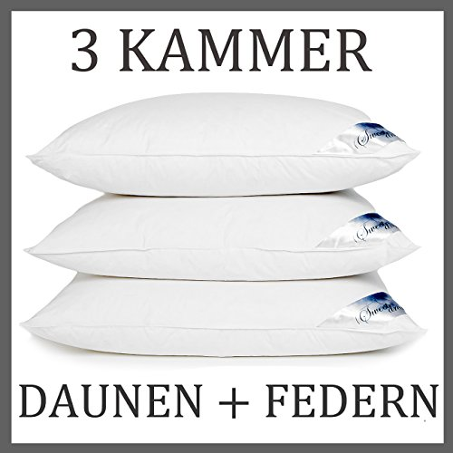 hs16 3 kammer kopfkissen daunenkissen kissen daunen federn 1600 gr 80x80 cm 3 kammer. Black Bedroom Furniture Sets. Home Design Ideas