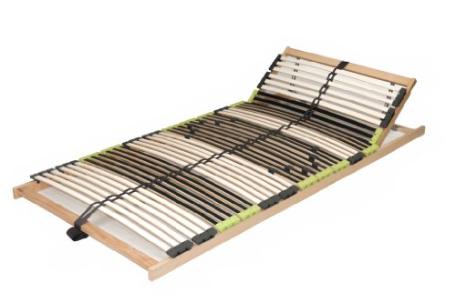 "7 Zonen Lattenrahmen Lattenrost ""DaMi Balance Kopf verstellbar"" zerlegt inkl. 6 fache Härteverstellung (100 x 200 cm)"