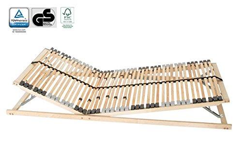 7-Zonen Lattenrost PREMIUM 42 Leisten Kopf- und Fußteil verstellbar Härtegradanpassung