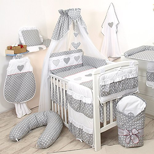 9tlg babybettw sche 135x100cm kinderbettw sche bettw sche himmel nestchen set d4. Black Bedroom Furniture Sets. Home Design Ideas