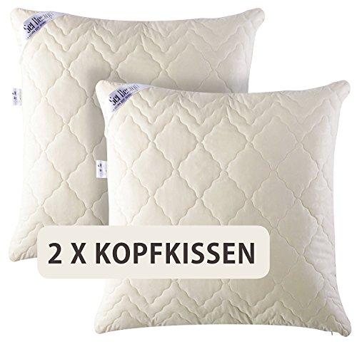 angebot doppelpack 2x sei design premium mikrofaser kopfkissen aphrodite f llung aus 3 d. Black Bedroom Furniture Sets. Home Design Ideas