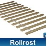 Arona+ Rollrost 180x200 cm. Rollrost aus Massivholz mit Textilband.