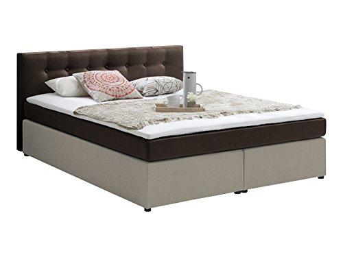 atlantic home collection rudi boxspringbett stoff liegefl che 180 x 200 cm braun. Black Bedroom Furniture Sets. Home Design Ideas