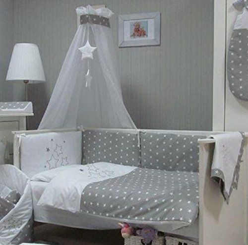 baby bettw sche set stars 4tlg bett set 135 100 voile f rs babybett 140 70 cm bettw sche. Black Bedroom Furniture Sets. Home Design Ideas