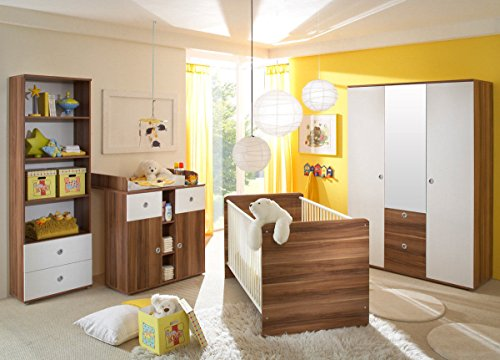 babyzimmer kinderzimmer komplett set wiki 2 in walnuss. Black Bedroom Furniture Sets. Home Design Ideas