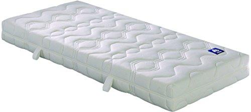 Badenia Bettcomfort Matratze, Irisette Lotus Tonnentaschenfederkern H3, 90x200 cm, weiß