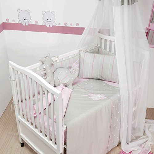 Belily World Baby Bettset, 5 Teilig, Bettwäsche Set, Leopard Zimmer