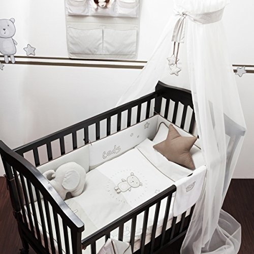 belily world baby bettset 5 teilig bettw sche set teddy teds zimmer tonnentaschenfederkern. Black Bedroom Furniture Sets. Home Design Ideas