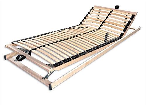 Betten-ABC Max1 K + F, Lattenrost, fertig montiert, mit Kopf- und Fußteilverstellung, Holm durchgehend, Größe 100 x 200 cm