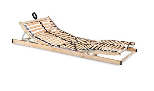 Betten-ABC Max1 Elektro, elektrischer Lattenrost mit Kopf und Fußteilverstellung, 28 flexible Federholzleisten, Notabsenkung, Größe: 90 x 200 cm