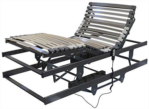 Betten-ABC höhenverstellbarer Senioren Rahmen, mit motorischer Kopfteil, Fußteil und Höhenverstellung, Liftfunktion, Größe: 90 x 200 cm