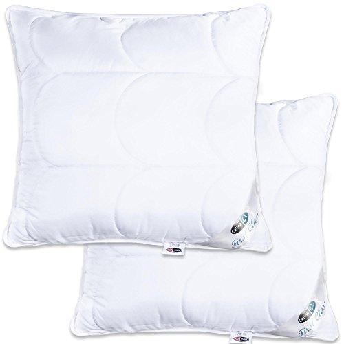 2er set kopfkissen 80 80 ko tex 95 grad waschbar kissen mit rei verschluss zum anpassen der. Black Bedroom Furniture Sets. Home Design Ideas