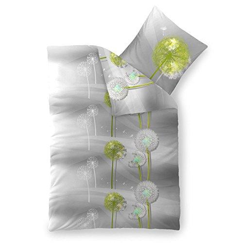Bettwäsche Baumwolle 135x200 CelinaTex 5000384 Fashion Gisele grau weiß Blume