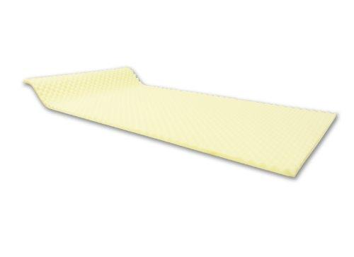 Dibapur - ca. 100cm x 200cm x 3cm - Visco Noppen Profil/Glatt Schaumplatte, matratzenauflage, Schaumstoff platte TYP RG55