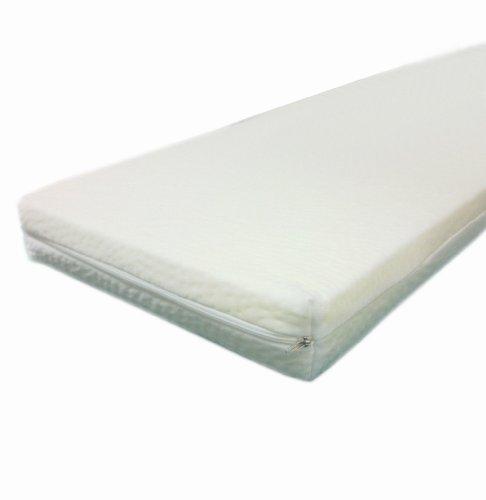 Dibapur - Viscoelastische - ca. 90 cm x 200 cm x 5 cm - Matratzenauflage - Visco auflage mit Bezug