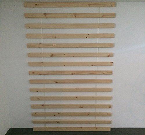Exklusiv Rollrost Lattenrost Extra Stark m. 15 stabilen Lamellen 6 cm breit 2 cm dick 120x200cm