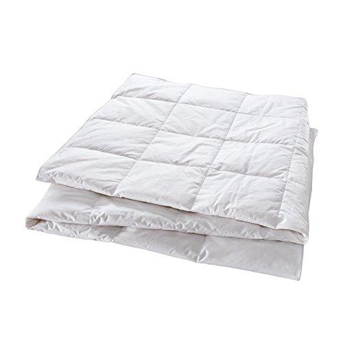 Manteuffel Natural Comfort 805570 Premium Bettdecke Leicht, 135 x 200 cm, weiß