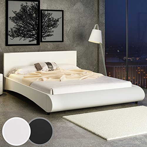 miadomodo kunstlederbett doppelbett polsterbett ehebett bett mit integriertem lattenrost in zwei. Black Bedroom Furniture Sets. Home Design Ideas