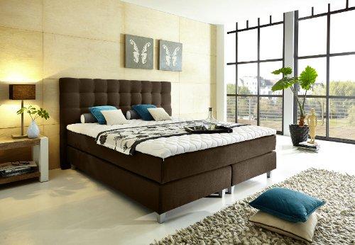 modell rockstar von welcon luxus boxspringbett 180x200 h rtegrad h3 in braun dunkelbraun. Black Bedroom Furniture Sets. Home Design Ideas