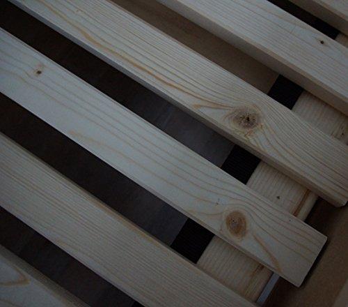 TUGA Holztech Naturprodukt FSC 28 LEISTEN bis 250Kg in der Größe 160 x 200 cm ROLLROST Lattenrost Qualitätsarbeit aus Deutschland unbehandelt, frei von Chemie