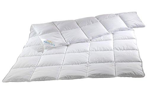 PROCAVE MICRO-COMFORT Qualitäts-Bettdecke für den Sommer | Entspannt schlafen auf hochwertiger Microfaser aus 100 % Polyester | Atmungsaktive Steppdecke in weiß in 135x200 cm | Soft-Komfort Bettdecken aus Hohl-Faser