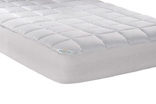 PROCAVE Micro-Comfort Matratzen-Bett-Schoner weiß 100x200 cm mit Spannumrandung | Höhe bis 30cm | Auch für Boxspring-Betten und Wasser-Betten geeignet | Microfaser | 100% Polyester | Matratzen-Auflage | Unter-Bett