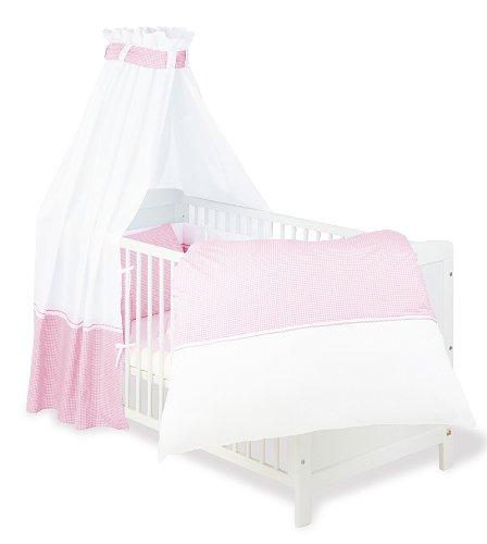 Pinolino - 60389 - Baby Bettset 4-teilig, 100% Baumwolle, für Gitterbetten der Größe  70 x 140 cm und 60 x 120 cm