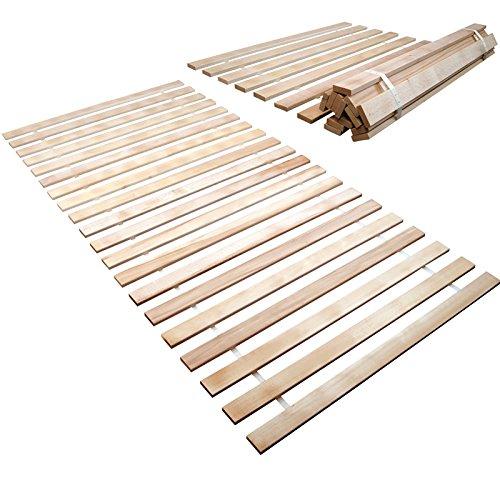 Premium Rollrost 100 x 200 cm stabiles Massivholz mit 13 Leisten, geeignet für alle Matratzen - weitere Größen wählbar