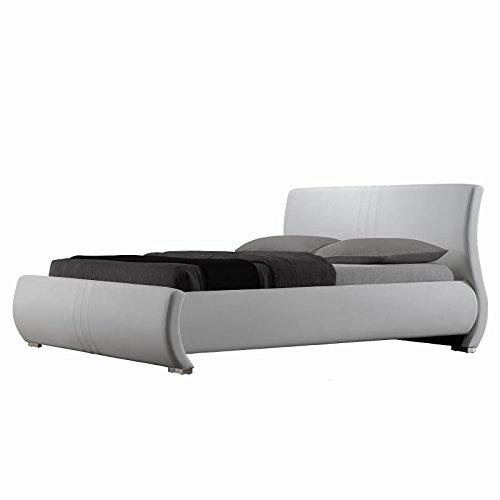 rimini kunstlederbett polsterbett 140 140x200 weiss. Black Bedroom Furniture Sets. Home Design Ideas