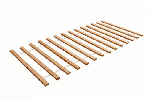 Rollrost Lattenrost 90x200 cm aus massiver Buche 16 Latten