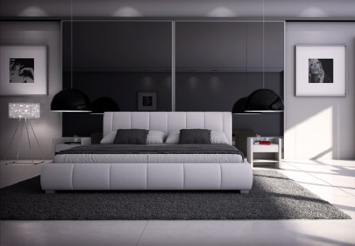 sam polsterbett innocent designbett latina 180 x 200 cm in wei kopfteil im modernen. Black Bedroom Furniture Sets. Home Design Ideas