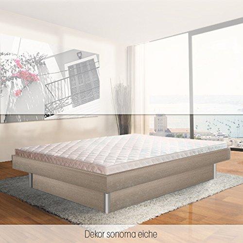 ORIGINAL bellvita Mesamoll II Wasserbett inkl. Lieferung mit Aufbau durch Fachpersonal in Komforthöhe und Bettrahmen 200 cm x 220 cm