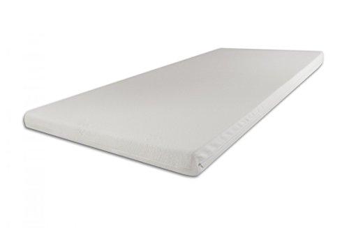 SW Bedding H2 Topper Matratzenauflage Kaltschaum 180 x 200 x 5 cm Bezug Ideal