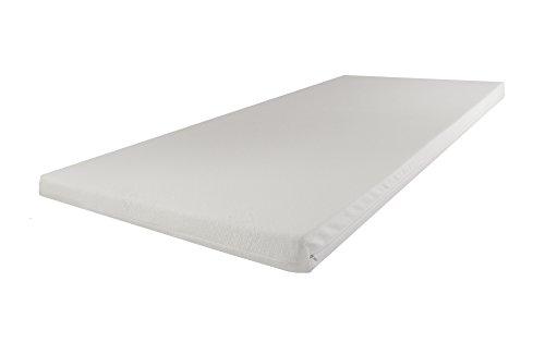 SW Bedding Topper Viscoelastische Matratzenauflage 90 x 200 x 9 cm H3 mit Bezug medicare - 120 Tage Probeschlafen