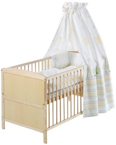 Schardt 040771901 Komplett-Kinderbett Conny 70 x 140 cm, natur lackiert