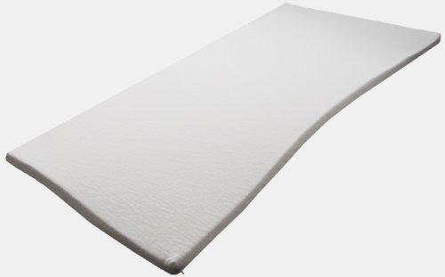 Sondermaße 5cm Viscoelastische Matratzenauflage mit Bezug Milano Härte 2 Visco Auflage Topper Memory Matratze Gelschaum (70x200cm)