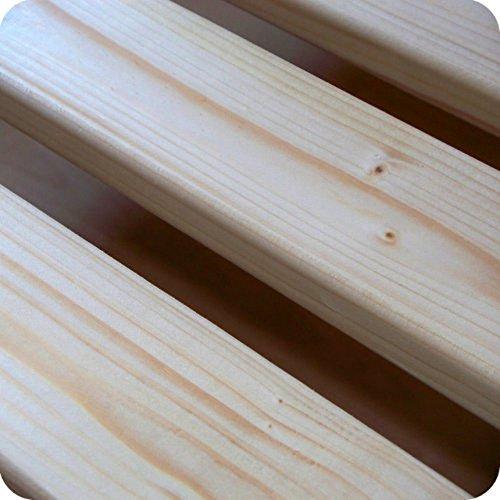 TUGA-Holztech 20mm Rollrost Lattenrollrost 90x200cm bis 200Kg Qualitätsarbeit aus Deutschland unbehandelt frei von Chemie Naturprodukt