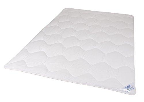 Traumnacht 03831395154 3-Star Leicht Bettdecke, Polyester, waschbar, weiß, 200 x 200 cm