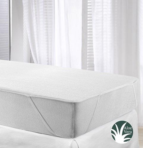 velfont matratzenschoner aloe vera wasserdicht und atmungsaktiv und mit 4 gummib ndern. Black Bedroom Furniture Sets. Home Design Ideas