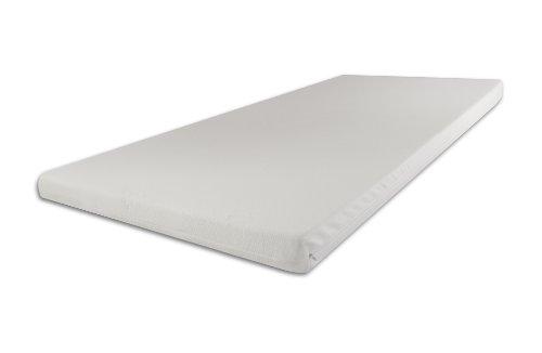 Viscoelastische Auflage Memory Topper Matratzenauflage 9cm Maß: 200x140cm H2 medium Cashmere