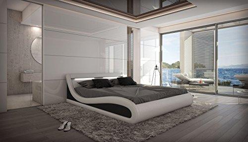 Wasserbett Caserta LED Komplett Set weiß