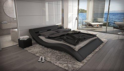 Wasserbett Massa LED schwarz Komplett Set