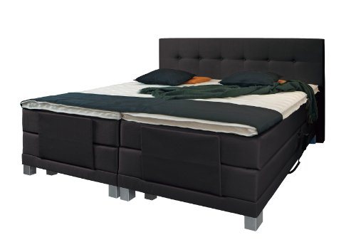wellness edition 12076 boxspringbett elektro grau 2xtonnentaschenfederkern 180 x 200 cm. Black Bedroom Furniture Sets. Home Design Ideas