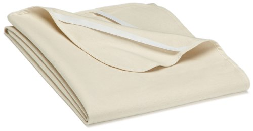 biberna 808301 Molton Matratzenauflage Premium Qualität, nach Öko-Tex Standard 100, ca. 100 x 220 cm, natur