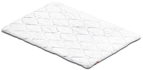 sleepling 190046 Basic 200 Sommer Decke Mikrofaser Baumwolle Mischgewebe leicht 155 x 220 cm, weiß