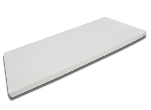 FMP Matratzenmanufaktur 42-0005,viscoelastische Matratzenauflage, Visco-Topper, weiß, 140 x 200 x 8 cm