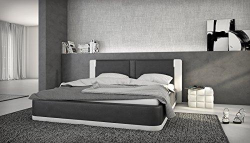 sam polsterbett rebecca 180 x 200 cm in schwarz wei ohne. Black Bedroom Furniture Sets. Home Design Ideas